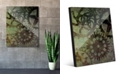 "Creative Gallery Shadows of Gears Green Abstract 20"" x 24"" Acrylic Wall Art Print"