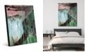 "Creative Gallery Akoku in Teal Purple Abstract 16"" x 20"" Acrylic Wall Art Print"