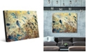 "Creative Gallery Blue Rust on Light Yellow Paint Abstract 24"" x 36"" Acrylic Wall Art Print"