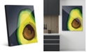 Creative Gallery Large Sliced Graphic Avocado on Blue Acrylic Wall Art Print Collection