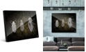 "Creative Gallery Beetles in Grey on Olive Green 20"" x 24"" Acrylic Wall Art Print"
