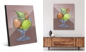 Creative Gallery Fruit Still Life on Brown Illustration Acrylic Wall Art Print Collection