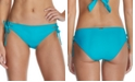 Raisins Juniors' Seychelles Solids Sweet Side-Tie Hipster Bikini Bottoms