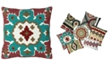 "Mod Lifestyles Southwest Collection Kilim Embroidery Pillow, 20"" X 20"""