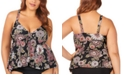 Raisins Curve Trendy Plus Size Juniors' Wild Romance Printed Atlantic Tankini Top