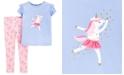 Carter's Toddler Girls 2-Pc. Dancing Unicorn Top & Leggings Set