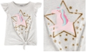 Carter's Toddler Girls Cotton Tie-Front Unicorn T-Shirt