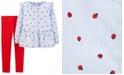 Carter's Toddler Girls 2-Pc. Long Sleeve Ladybug-Print Shirt & Jersey Leggings Set