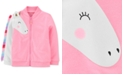 Carter's Toddler Girls Neon Unicorn French Terry Jacket