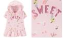 Carter's Toddler Girls Cotton Hooded Unicorn-Print Peplum Hem Top