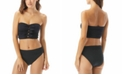 Carmen Marc Valvo Ruched Bow-Front Bandeau Bikini Top & Bottoms