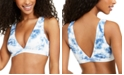 Body Glove Juniors' Cloud Tie-Dye Ribbed Bikini Top