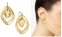 Style & Co Double-Diamond Hammered Drop Earrings, Created for Macy's