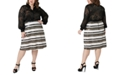 Maree Pour Toi Plus Size Sequined Skirt