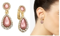 Charter Club Gold-Tone Pavé & Imitation Pearl Clip-On Drop Earrings, Created For Macy's