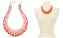 """Charter Club Gold-Tone Imitation Pearl Triple-Row Statement Necklace, 18"""" + 2"""" extender, Created for Macy's"""