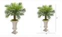Nearly Natural 34in. Robellini Palm Artificial Tree in Sand Colored Urn