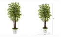Nearly Natural 5.5ft. Bamboo Artificial Tree in Decorative Planter