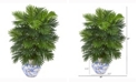 Nearly Natural 27in. Areca Palm Artificial Plant in Vintage Floral Planter