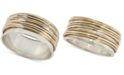 Robert Lee Morris Soho Two-Tone Sculptural Wire Bangle Bracelet