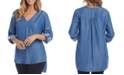 Karen Kane High-Low Roll-Tab Top