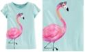 Carter's Toddler Girls Cotton Flamingo Split Sleeve T-Shirt