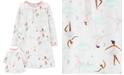 Carter's Little & Big Girls 2-Pc. Ballerina-Print Nightgown & Doll Nightgown Set