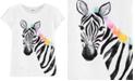 Carter's Toddler Girls Cotton Zebra Split Sleeve T-Shirt