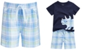 First Impressions Baby Boys Plaid Cotton Shorts, Created for Macy's