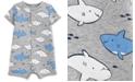 Carter's Baby Boys Shark-Print Cotton Romper