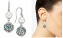 Charter Club Silver-Tone Imitation Pearl & Crystal Ball Drop Earrings, Created for Macy's