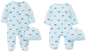 Little Me Baby Boys 2-Pc. Cotton Cars-Print Hat & Footed Coverall