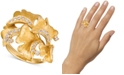 Le Vian Nude Diamond Sculptured Flower Statement Ring (1/2 ct. t.w.) in 14k Gold