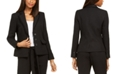 Karl Lagerfeld Paris Fringe-Trimmed Tweed Blazer