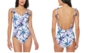 Jessica Simpson Tie-Dyed Tie-Shoulder One-Piece Swimsuit