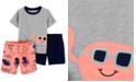 Carter's Toddler Boys 3-Pc. Crab Pajamas Set