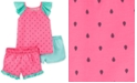 Carter's Little & Big Girls 3-Pc. Watermelon Pajamas Set