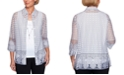 Alfred Dunner Classics Burnout Layered-Look Top