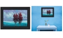 Trendy Decor 4U Trendy Decor 4u Two Red Trees by Tim Gagnon, Ready to Hang Framed Print Collection