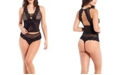 iCollection Women's Bella Floral Lace and Mesh Plunge Braset