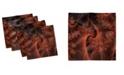 "Ambesonne Abstract Swirls Set of 4 Napkins, 12"" x 12"""