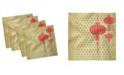 "Ambesonne Lantern Set of 4 Napkins, 12"" x 12"""