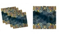 """Ambesonne Psychedelic Set of 4 Napkins, 12"""" x 12"""""""