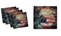 "Ambesonne American Flag Set of 4 Napkins, 12"" x 12"""