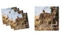 "Ambesonne Africa Set of 4 Napkins, 12"" x 12"""