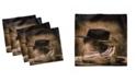 "Ambesonne Western Set of 4 Napkins, 12"" x 12"""