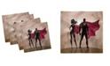 "Ambesonne Superhero Set of 4 Napkins, 12"" x 12"""