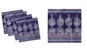 "Ambesonne Moroccan Set of 4 Napkins, 12"" x 12"""