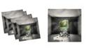 "Ambesonne Broken Wall Set of 4 Napkins, 12"" x 12"""