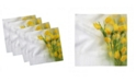 "Ambesonne Romantic Tulips Set of 4 Napkins, 12"" x 12"""